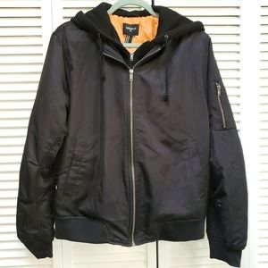 Forever 21 Layered Jacket w/hoodie Mens md